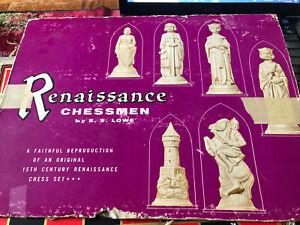 Vintage Renaissance Chessmen By E.S. Lowe Full Set