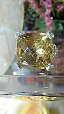 STERLING SILVER CITRINE WITH CUBIC ZIRCONIA HEARTS BY JUDITH RIPKA