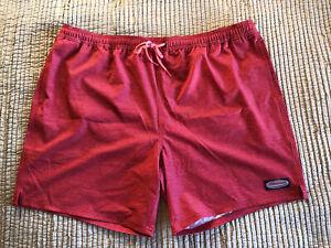 VINEYARD VINES Crappy Jetty Red Performance stretchy swim trunks shorts 2XL $90