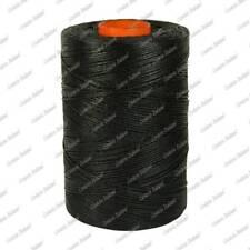 Filo treccia cordino spago cerato, nero, 1 mm - 250 mt, Corderie Italiane