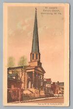 St. Joseph Catholic Church Martinsburg Wv Rare Antique Hand-Colored 1910