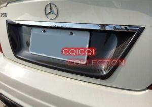Carbon Fiber MERCEDES BENZ 08~14 W204 C class Sedan License Plate Cover ◎