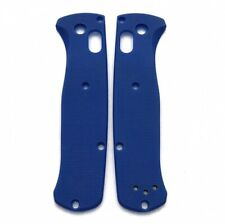 Flytanium Precision Milled Blue G10 Scales for Benchmade Bugout Knife