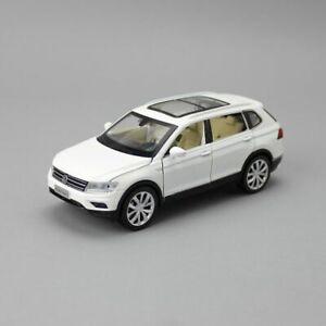 Diecast Toy Car Model 1:32 Volkswagen Tiguan L SUV Sport Pull Back Sound & Light