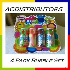 BUBBLE 4 x 65mL Bottles of bubbles @ Wands Gr8 Party Toy Prizes! FUN FOR ALL