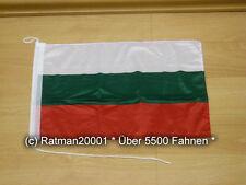 Fahnen Flagge Bulgarien Bootsfahne Tischwimpel - 30 x 40 cm