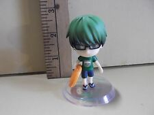 """#A889 Unknown Anime 2.5""""in Green Hair Boy Wearing Glasses and Flip Flops"""