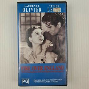 Fire Over England - Laurence Olivier - Vivien Leigh - VHS Tape - TRACKED POST