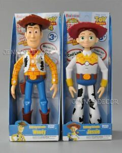 "Disney Pixar Toy Story 9"" Talking Friends Woody 8"" Jessie Action Figure Toy Doll"