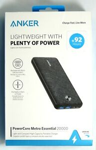 Anker - PowerCore Metro 20,000 mAh Portable Charger for Phone/Tablet - Dark Gray