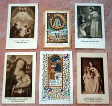 6x alte Andachtsbildchen Heiligenbildchen Gebetsbildchen Fleissbildchen #007