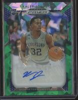 2019 Panini Prizm Basketball KALEB JOHNSON GREEN ICE AUTO AUTOGRAPH RC #/04/15