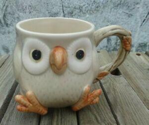 Vintage Fitz & Floyd ceramic  owl mug Made in Japan