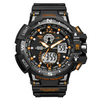Men's Sport Luxury Army Military Waterproof LED Resin Analog Digital Wrist Watch