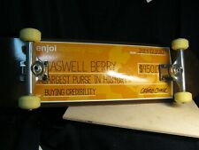 "Rare! Unused Vintage 2010 Enjoi ""Caswell Berry Paycheck"" Skateboard"