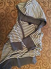 Tommy Hilfiger Girls/Kids Short Sleeve Stripped Hoodie Top L(12-14)