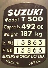 SUZUKI T500 HEADSTOCK FRAME RESTORATION DECAL