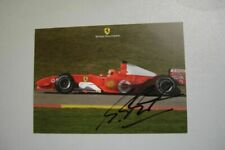 MICHAEL SCHUMACHER RARE SIGNED 2004 FERRARI F1 OFFICIAL FACTORY POSTCARD 10x15
