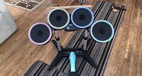 Rockband Wireless Drum Set Xbox 360 Bundle - Drums, Sticks, Mic & Game - TESTED