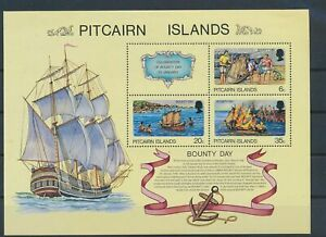 LO43197 Pitcairn Island bounty day good sheet MNH