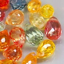 5.08Ct. Natural Fancy Color Sapphire Africa Briolette Lot Drilled Heated-25ps