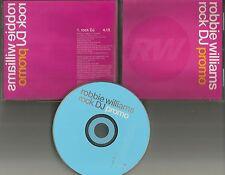 ROBBIE WILLIAMS Rock DJ PROMO Radio DJ CD Single 2000 MINT 7087615161