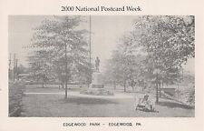 Edgewood Park Edgewood PA Reproduction Postcard