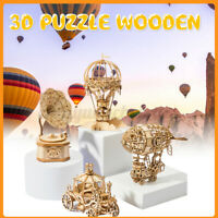 3D DIY Wooden Puzzle Laser Cut Mechanically Driven Model Handmade Crafts Kid