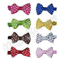 Hair Clips 8 Pairs Baby Pet Dog Cat Polka Dot Bow Wholesale gift costume