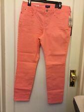 NYDJ Clarissa Stretch Skinny Ankle Jeans Slim Lift Guava Sz 16P NWT
