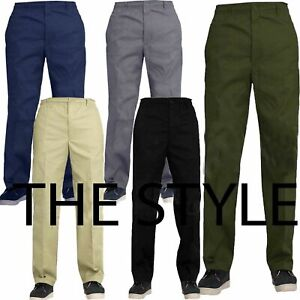 Mens Elasticated Waist Work Casual Rugby Pants Smart Rugby Trousers Size 30- 50