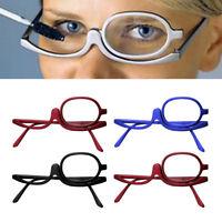 Folding Women Girls Makeup Magnifying Reading Flip Make-up Glasses Eyeglasses US