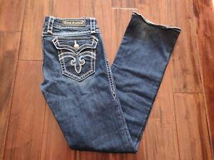 Rock Revival Deborah Bootcut Blue Jeans Women's 31 Waist 33 Inseam