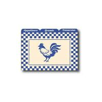 Labeleze Recipe Card Dividers 3 x 5 - Rooster