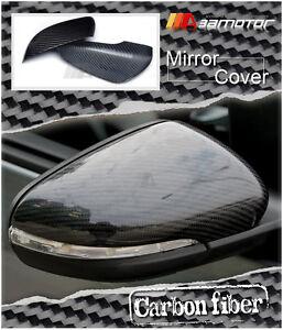 Dry Carbon Fiber Door Side Mirror Covers fits 10-14 VW GOLF6 GOLF 6 VI GTI MK6