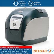 Zebra P100i Plastic ID Card/Badge Printer With Starter Pack, Support & VAT