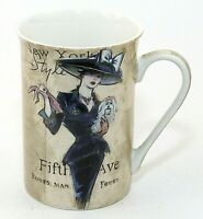 Kent Pottery Fine Porcelain Cup Mug Fifth Ave New York Style Fashionista NWOT