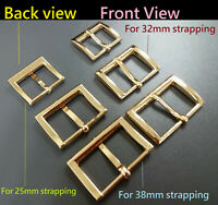 Metal Rectangle Belt Pin Buckle for 25mm 32mm 38mm strapping DIY Leather craft