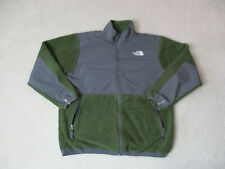 The North Face Jacket Youth Extra Large Green Gray Full Zip Fleece Coat Kids Boy
