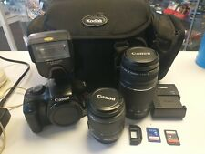Canon EOS Rebel T3 1100D 12.2MP DSLR Camera Kit w/18-55mm & Zoom Lenses 75-300mm