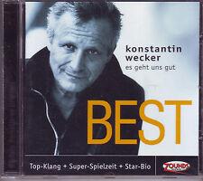 ZOUNDS - KONSTANTIN WECKER - Es geht uns gut - Best - rare audiophile CD 2002