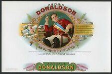 ARTHUR DONALDSON Brand Vintage Inner Cigar Label, Prince of Pilsen Play, 625