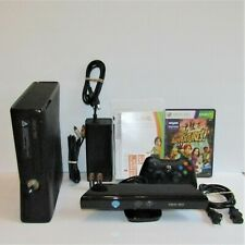 Microsoft Xbox 360 S 4Gb Console - Black - Model 1439 with Kinect Tested Working