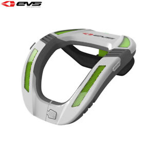 EVS R4 Koroyd White/Green Neck Protector Adult Motocross MX Armour