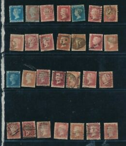 D125844 Great QV Britain Nice selection of Mostly VFU Used stamps