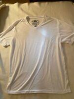 American Rag NWOT Men's Medium white burnout knit v-neck T-Shirt short sleeve