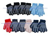 Kids Boys Girls Non-Slip Grip Grippers Crafts Party Garden Gloves, 12 Pairs Pack