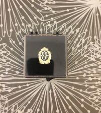 Disneyland Old Disney Club 33 Logo Members Only Lapel Pin Gold Tone & Black