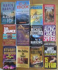 TWELVE PAPERBACK MYSTERIES BY STUART WOODS, PATTERSON, JA JANCE, ROLLINS ETC.