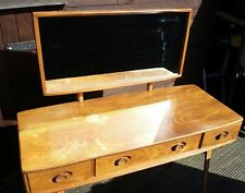 Ercol dressing table with mirror elm wood vintage 60s ercol table dressing table